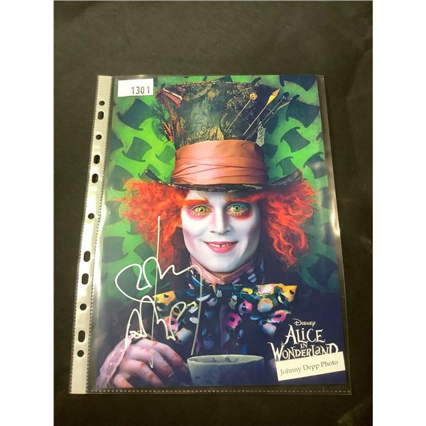 AUTOGRAPHED JOHNNY DEPP ALICE IN WONDERLAND PHOTO WITH COA