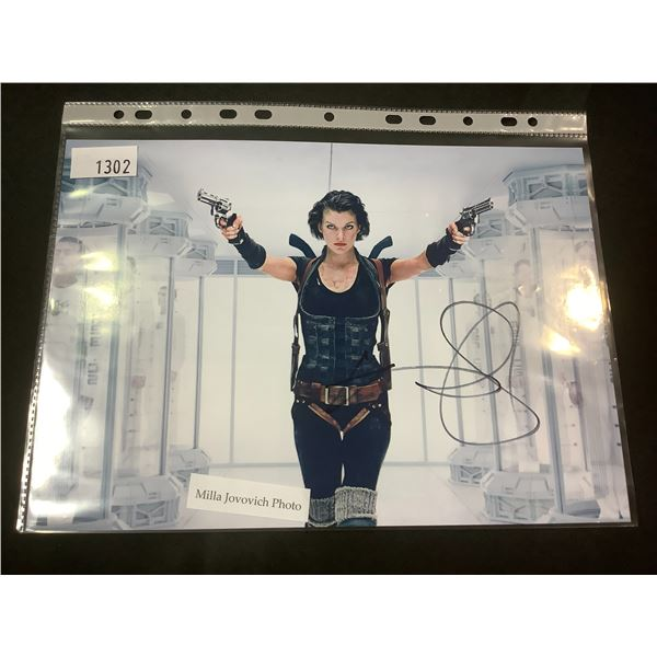 AUTOGRAPHED MILLA JOVOVICH RESIDENT EVIL PHOTO WITH COA