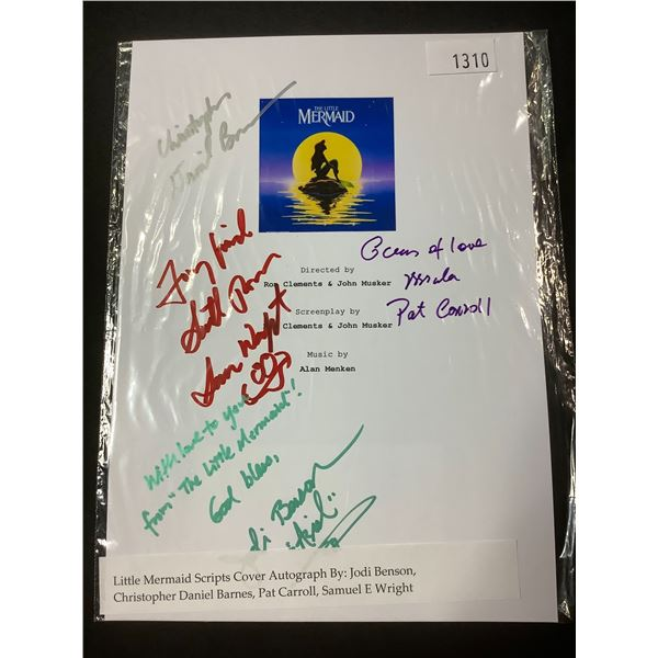 AUTOGRAPHED LITTLE MERMAID SCRIPT COVER WITH COA (SIGNED BY JODI BENSON, CHRISTOPHER DANIEL BARNES,