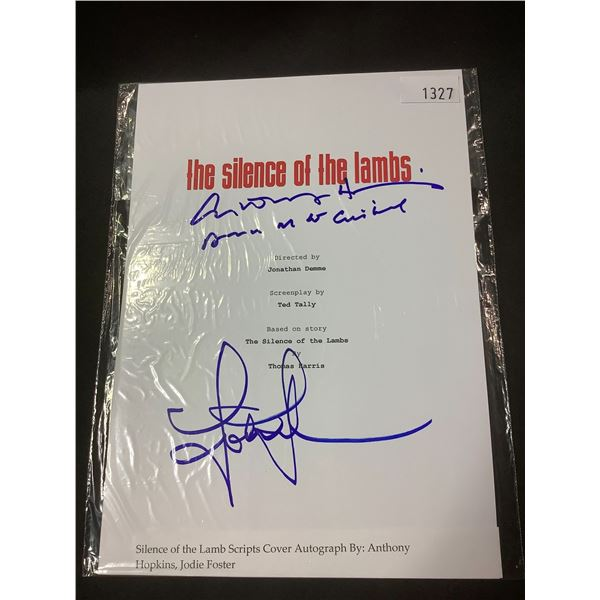 AUTOGRAPHED THE SILENCE OF THE LAMBS SCRIPT COVER WITH (SIGNED BY ANTHONY HOPKINS, JODIE FOSTER)