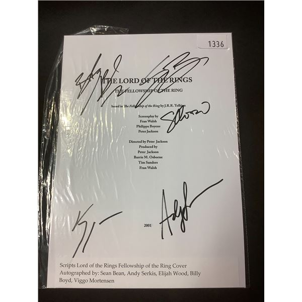 AUTOGRAPHED THE LORD OF THE RINGS FELLOWSHIP OF THE RING SCRIPT COVER WITH COA (SIGNED BY SEAN