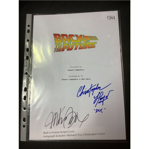 AUTOGRAPHED BACK TO THE FUTURE SCRIPT COVER WITH COA (SIGNED BY MICHAEL J FOX & CHRISTOPHER LLOYD)