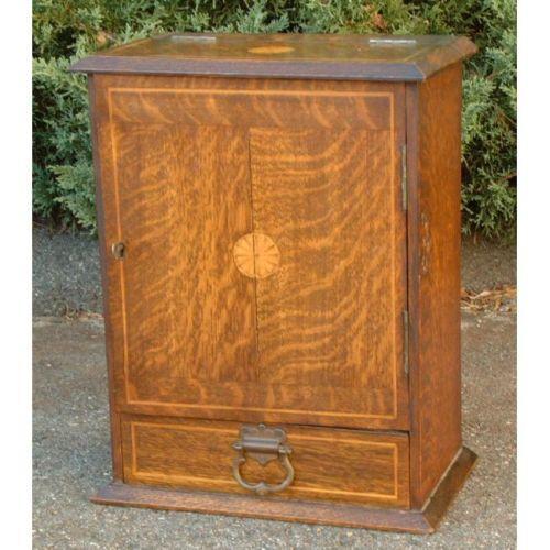 Antique Victorian oak pipe box