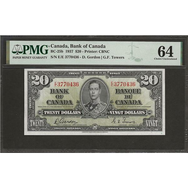 Canada BC-25b 1937 $20 CHUNC64 PMG