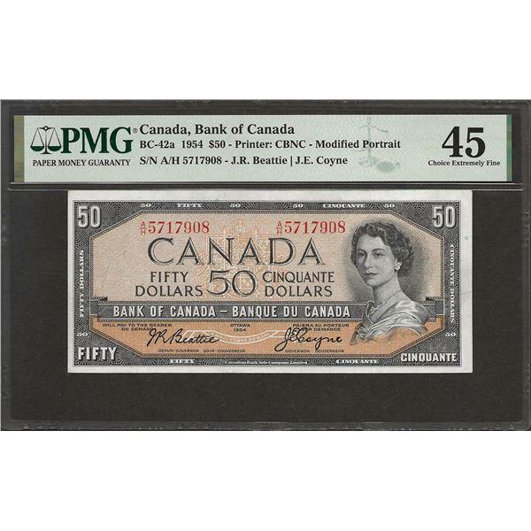 Canada BC-42a 1954 $50 EF45 PMG