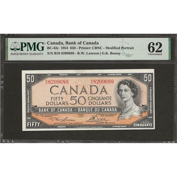 Canada BC-42c 1954 $50 UNC62 PMG