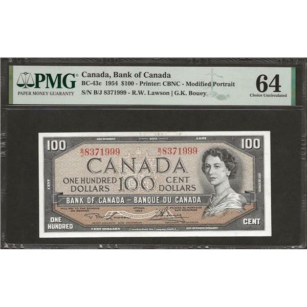 Canada BC-43c 1954 $100 CHUNC64 PMG