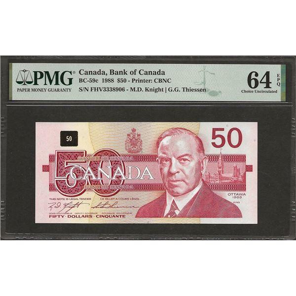 Canada BC-59c 1988 $50 CHUNC64EPQ PMG