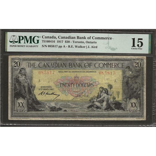 Canadian bank of commerce 75-16-04-16 1917 $20 F15 PMG
