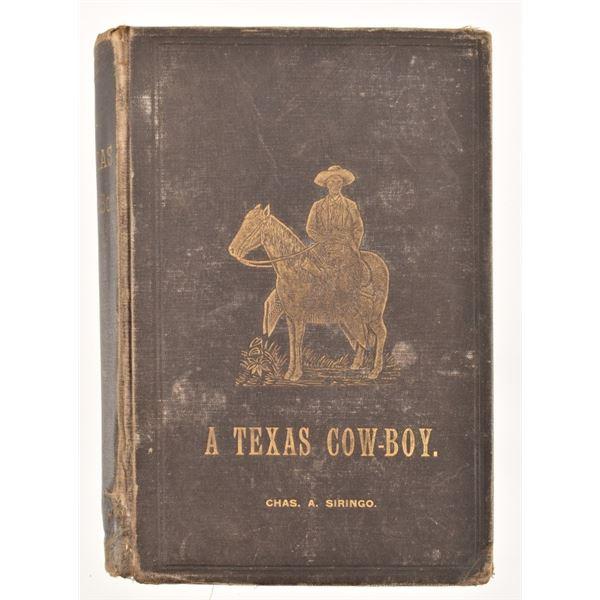 """""""A Texas Cow-Boy"""" by Charles A. Siringo"""