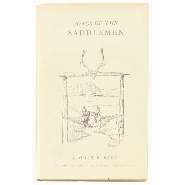 """""""Songs of the Saddlemen"""" by S. Omar Barker"""
