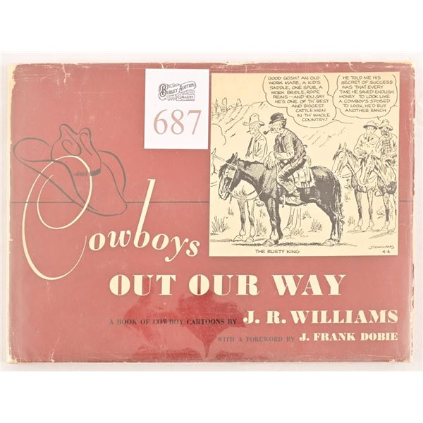 """""""Cowboys Out Our Way"""" by J.R. Williams."""