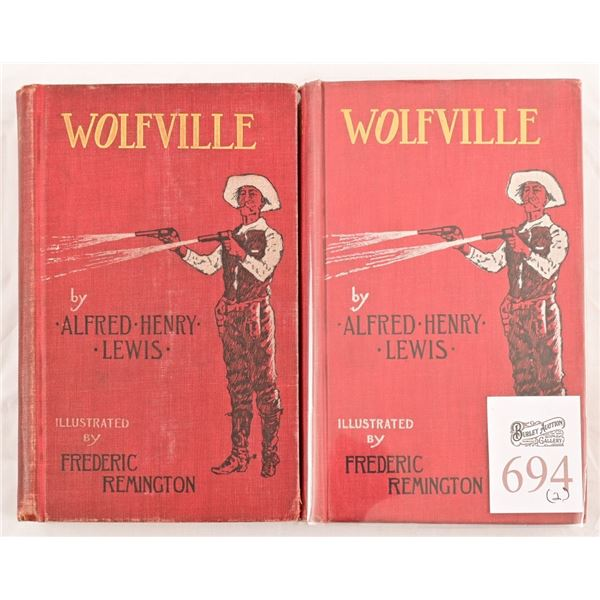 """(2) Copies of """"Wolfville"""" by Alfred Henry Lewis"""