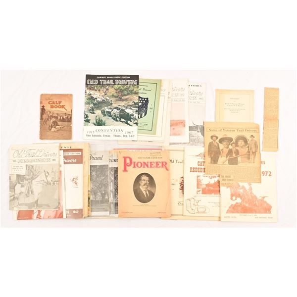 Collection of Old Trail Drivers Assoc. Booklets