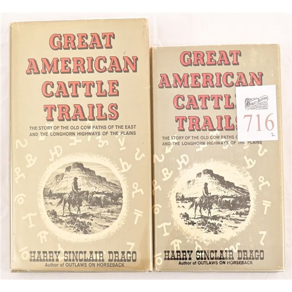 """(2) Copies of """"Great American Cattle Trails"""""""