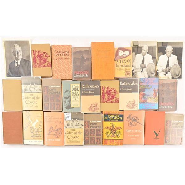 Collection of (25) J. Frank Dobie Books