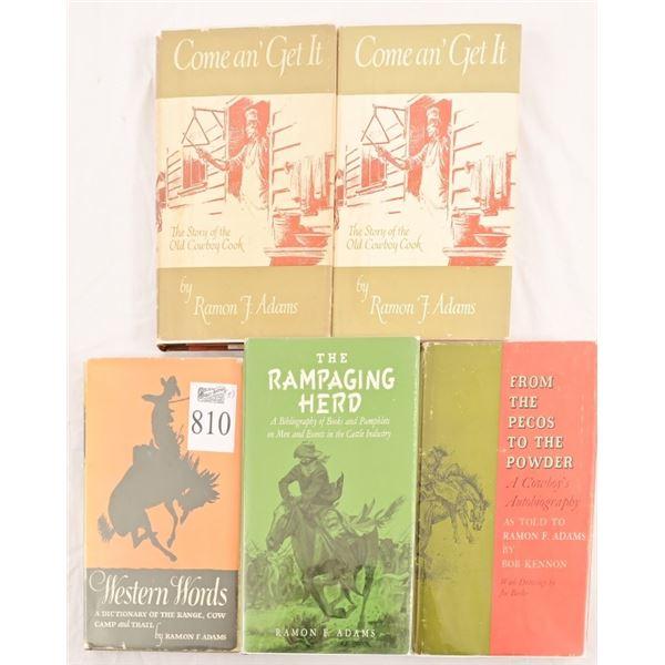 Collection of Ramon F. Adams Novels