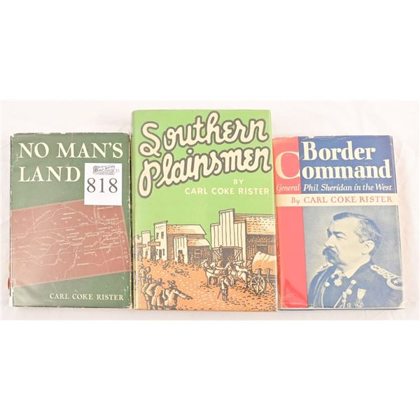 Collection of (3) Carl Coke Rister Novels