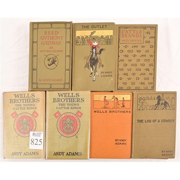 Collection of (7) Andy Adams Books