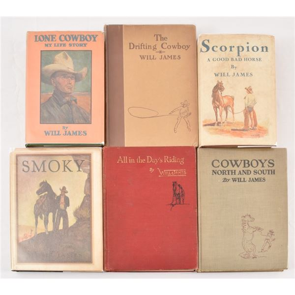 Collection of (6) Novels by Will James