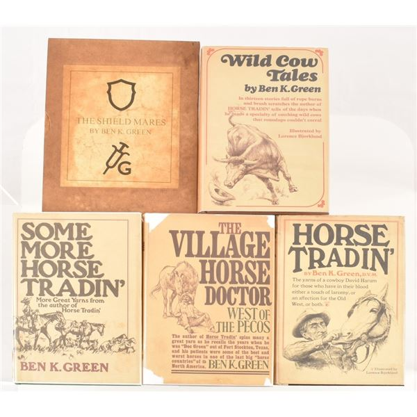 Collection of (5) Signed Ben K. Green Books
