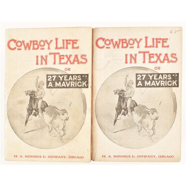 """(2)""""Cowboy Life In Texas"""" by W.S. James"""