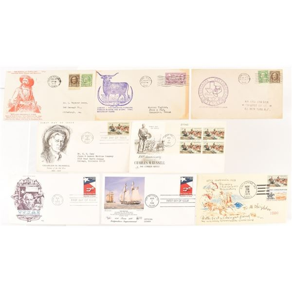 (7) Stamped Souvenir Envelopes