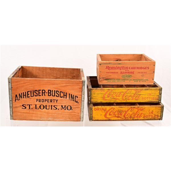 Wooden Beer, Ammo, & Coca Cola Crates