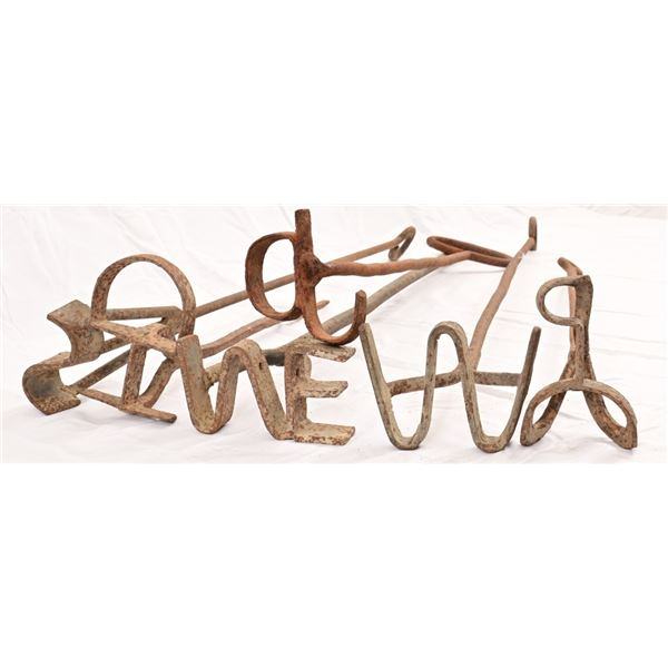Collection of (6) Antique Branding Irons