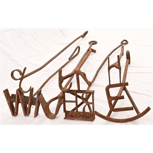 Collection of (7) Antique Branding Irons