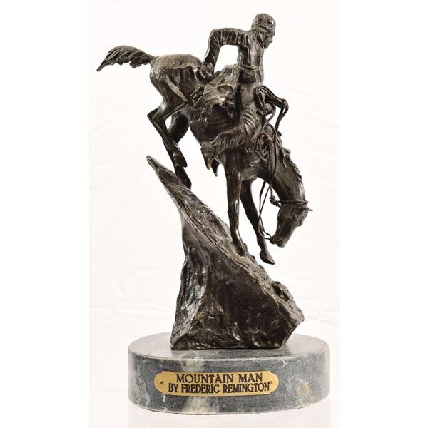 """""""Mountain Man"""" Frederic Remington Bronze"""