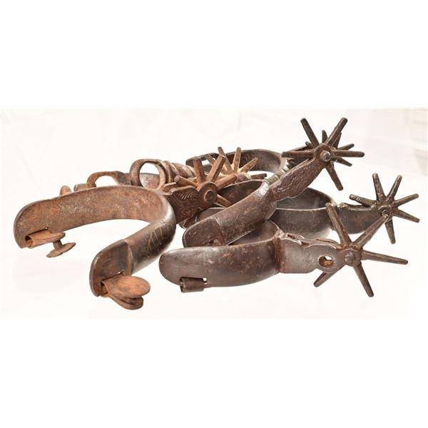 Collection of (6) Spanish Colonial Spurs