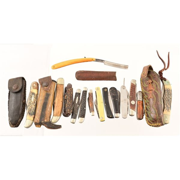 Collection of (14) Folding Knives