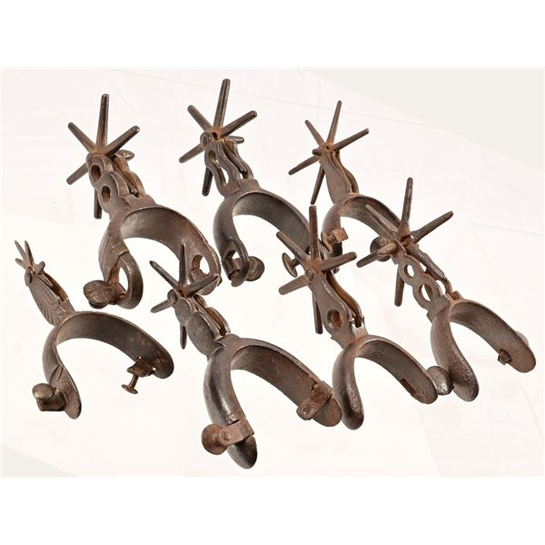 Collection of (7) Chihuahua Spurs