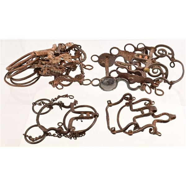 Collection of (13) Spanish Colonial Horse Bits