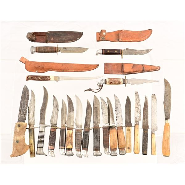 Collection of (40) Hunting Knives