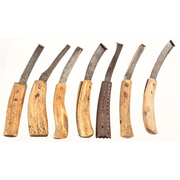 Collection of (7) Vintage Ferrier Hoof Knives