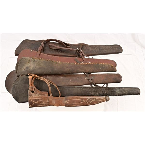 Collection of (6) Leather Rifle Scabbards