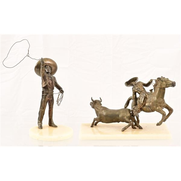 (2) Mexican Charro Bronzes