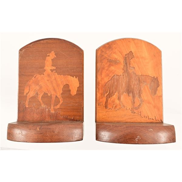 Cowboy Western Bookends