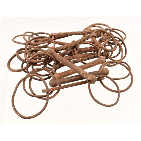Collection of (14) Vintage Snaffle Bits