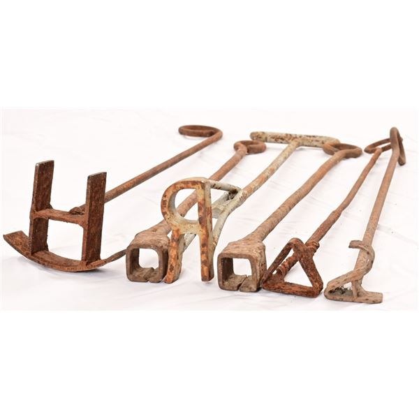 Collection of (6) Smaller Branding Irons