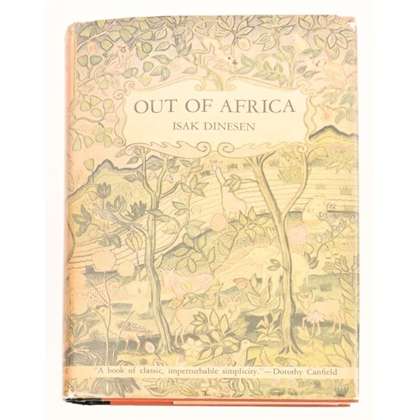 """""""Out of Africa"""" By Isak Dinesen"""