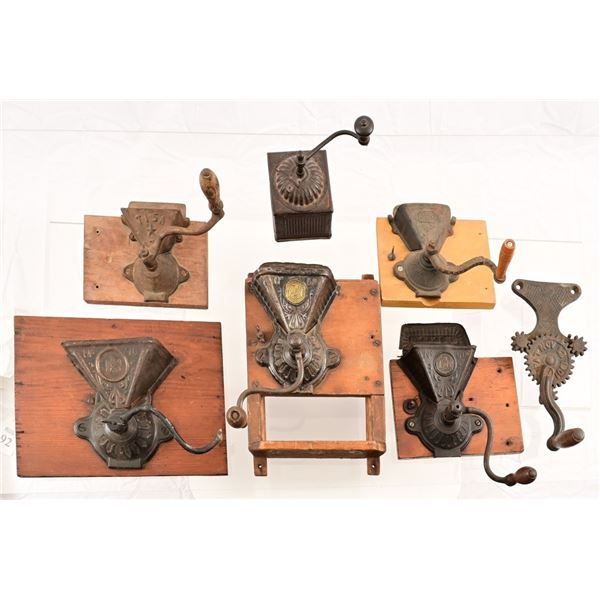 Collection of (5) Vintage Coffee Grinders