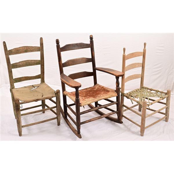 Three Antique Texas Chairs