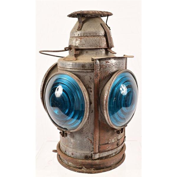 Converted Railroad Lantern Lamp