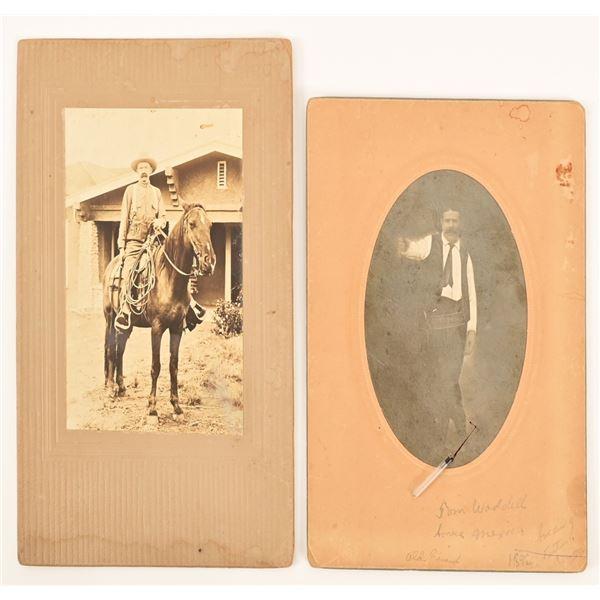 (2) Antique Cowboy Photos