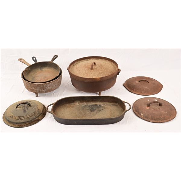 Collection of Cast Iron Cookware