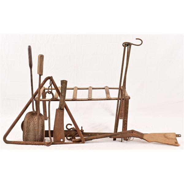 (9) Antique Cast Iron Pieces