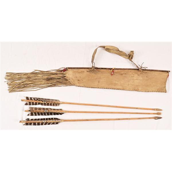 Handmade Native American Arrows Quivers